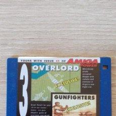 """Videojuegos y Consolas: OVERLORD-GUNFIGHTERS-DISKETTE 3,5""""-COMMODORE AMIGA-DEMO-AMIGA POWER ISSUE 45-AÑOS 90.. Lote 225750928"""