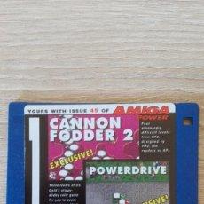 """Videojuegos y Consolas: CANNON FODDER 2-POWERDRIVE-DISKETTE 3,5""""-COMMODORE AMIGA-DEMO-AMIGA POWER ISSUE 45-AÑOS 90.. Lote 225753485"""