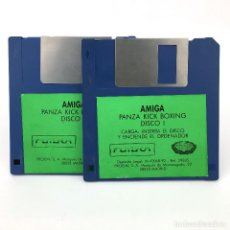 Videojuegos y Consolas: PANZA KICK BOXING PROEIN SOFT LINE FUTURA 1990 ANTIGUO VIDEOJUEGO VINTAGE 3 COMMODORE AMIGA DISKETTE. Lote 227627590