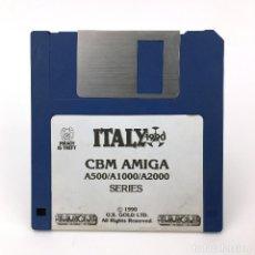 Videojuegos y Consolas: ITALY 1990 U.S. GOLD FUTBOL SOCCER CALCIO A2000 ANTIGUO VIDEOJUEGO VINTAGE COMMODORE AMIGA DISKETTE. Lote 227627860