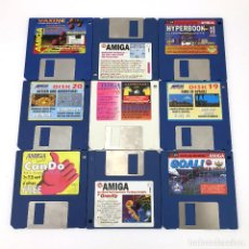 Videojuegos y Consolas: LOTE 9 DISKETTES COMMODORE AMIGA COMPUTING DISK GOLD MAGAZINE VINTAGE HEIMDALL BABY JO ANOTHER WORLD. Lote 227628760