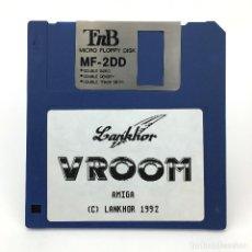 Videojuegos y Consolas: VROOM LANKHOR DAN MCRAE 1992 RACING VIDEO GAME ANTIGUO VIDEOJUEGO VINTAGE COMMODORE AMIGA DISKETTE. Lote 227629170
