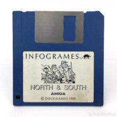 Videojuegos y Consolas: NORTH & SOUTH INFOGRAMES 1989 LES TUNIQUES BLEUES JUEGO VIDEOJUEGO VINTAGE COMMODORE AMIGA DISKETTE. Lote 227648770