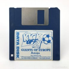 Videojuegos y Consolas: KICK OFF 2 GIANTS OF EUROPE DATA DISK ANCO SOFTWARE DE JUEGO FUTBOL SOCCER COMMODORE AMIGA DISKETTE. Lote 227648925