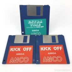 Videojuegos y Consolas: KICK OFF + EXTRA TIME ANCO SOFTWARE DE JUEGO FUTBOL SOCCER FOOTBALL RAREZA COMMODORE AMIGA DISKETTE. Lote 227648935