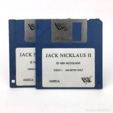 Videojuegos y Consolas: JACK NICKLAUS II DRO SOFT ACCOLADE 1991 GOLD DEPORTE 18 ANTIGUO VIDEOJUEGO COMMODORE AMIGA DISKETTE. Lote 227648975