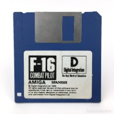Videojuegos y Consolas: F-16 COMBAT PILOT SPANISH DIGITAL INTEGRATION 1989 ANTIGUO VIDEOJUEGO AVION COMMODORE AMIGA DISKETTE. Lote 227648980