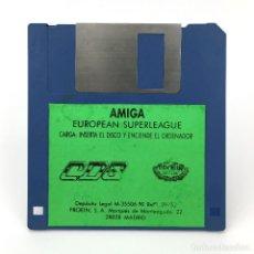 Videojuegos y Consolas: EUROPEAN SUPERLEAGUE PROEIN SOFT LINE CDS 1990 FUTBOL SOCCER COPA DE EUROPA COMMODORE AMIGA DISKETTE. Lote 227649150