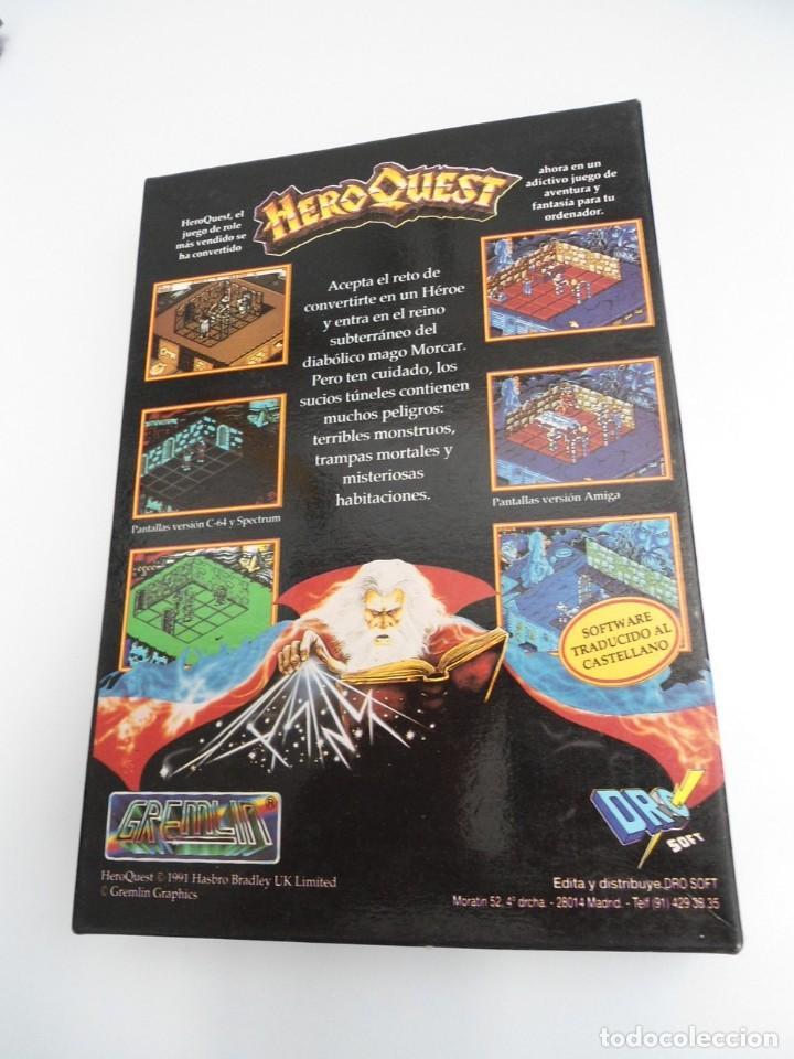 Videojuegos y Consolas: HEROQUEST HERO QUEST - JUEGO AMIGA COMPLETO - GREMBLIN GRAPH. DROSOFT 1991 - RARO - Foto 3 - 229052260