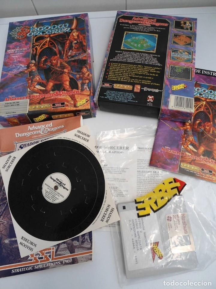 SHADOW SORCERER ADVANCED DUNGEONS & DRAGONS D&D - JUEGO AMIGA COMPLETO CON LIBRO PISTAS - MUY RARO (Juguetes - Videojuegos y Consolas - Amiga)