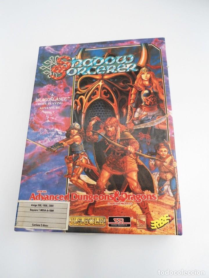 Videojuegos y Consolas: SHADOW SORCERER ADVANCED DUNGEONS & DRAGONS D&D - JUEGO AMIGA COMPLETO CON LIBRO PISTAS - MUY RARO - Foto 2 - 229060490