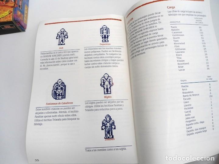 Videojuegos y Consolas: SHADOW SORCERER ADVANCED DUNGEONS & DRAGONS D&D - JUEGO AMIGA COMPLETO CON LIBRO PISTAS - MUY RARO - Foto 26 - 229060490