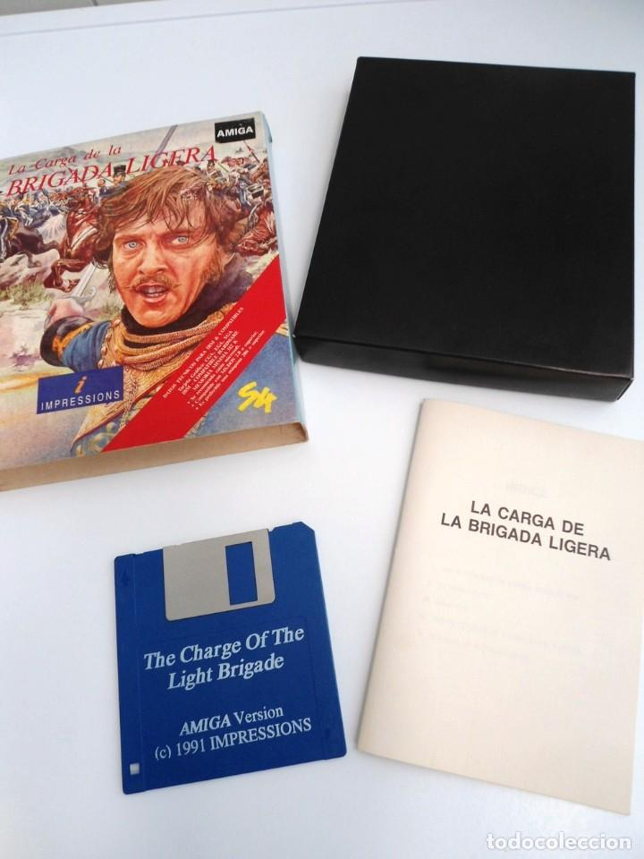 LA CARGA DE LA BRIGADA LIGERA - JUEGO AMIGA COMPLETO - IMPRESSIONS SYSTEM 4 1991 - RARO (Juguetes - Videojuegos y Consolas - Amiga)