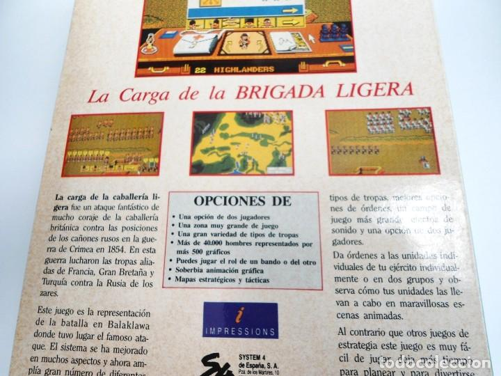 Videojuegos y Consolas: LA CARGA DE LA BRIGADA LIGERA - JUEGO AMIGA COMPLETO - IMPRESSIONS SYSTEM 4 1991 - RARO - Foto 16 - 229068095