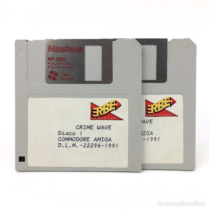 CRIME WAVE ERBE ESPAÑA 1991 SHOOTER NARC POLICIA CRIMINAL GRAFICOS DIGITAL COMMODORE AMIGA DISKETTE (Juguetes - Videojuegos y Consolas - Amiga)