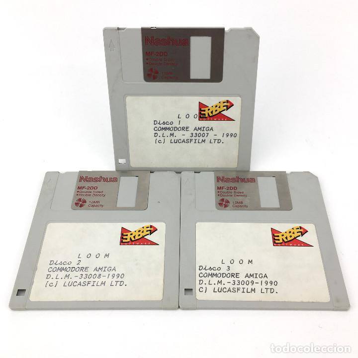 LOOM ERBE ESPAÑA LUCASFILM GAMES 1990 AVENTURA GRAFICA INDIANA MONKEY RARO COMMODORE AMIGA DISKETTE (Juguetes - Videojuegos y Consolas - Amiga)