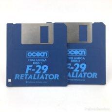 Videojuegos y Consolas: F29 RETALIATOR / OCEAN SOFTWARE 1989 DISK SIMULADOR DE VUELO COMBATE DISKETTE 3½ CBM COMMODORE AMIGA. Lote 230414045