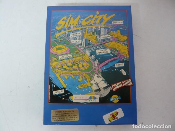SIM CITY / CAJA CARTÓN / COMMODORE AMIGA / RETRO VINTAGE / DISCO - DISKETTE - DISQUETE (Juguetes - Videojuegos y Consolas - Amiga)