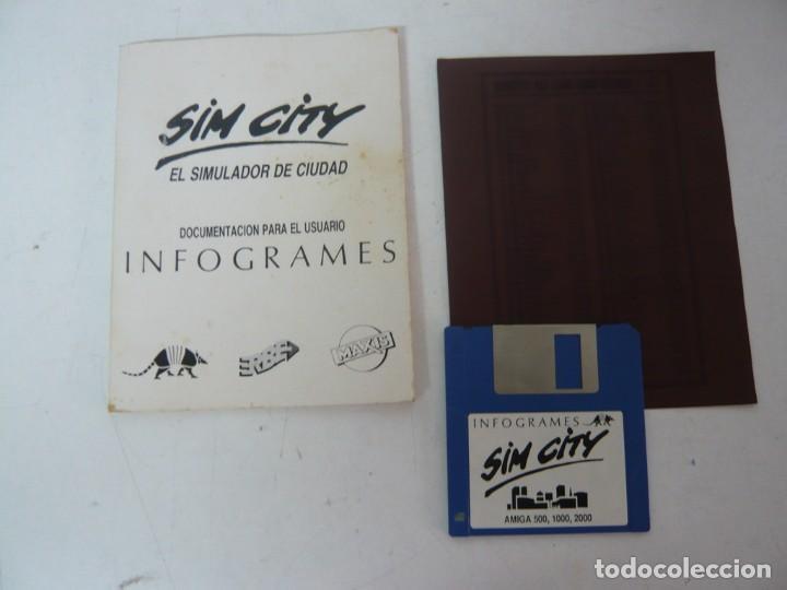 Videojuegos y Consolas: SIM CITY / CAJA CARTÓN / COMMODORE AMIGA / RETRO VINTAGE / DISCO - DISKETTE - DISQUETE - Foto 4 - 233226390