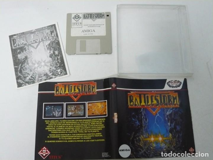 Videojuegos y Consolas: BATTLESTORM / ESTUCHE / COMMODORE AMIGA / RETRO VINTAGE / DISKETTE - DISQUETE - Foto 3 - 233227330