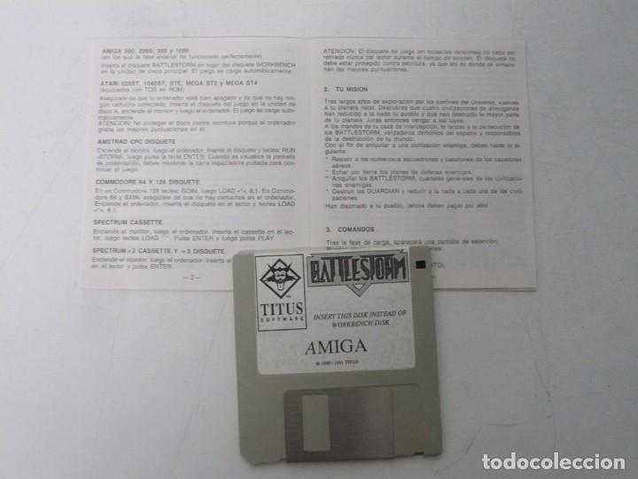 Videojuegos y Consolas: BATTLESTORM / ESTUCHE / COMMODORE AMIGA / RETRO VINTAGE / DISKETTE - DISQUETE - Foto 4 - 233227330