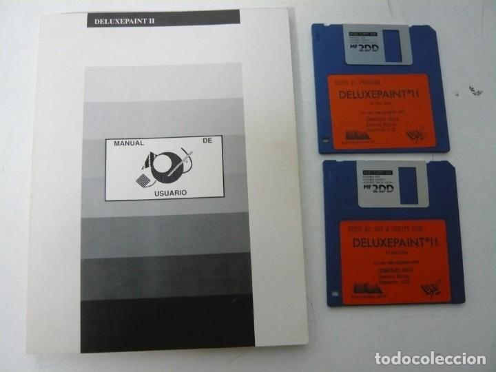 Videojuegos y Consolas: DELUXE PAINT 2 / CAJA CARTÓN / COMMODORE AMIGA / RETRO VINTAGE / DISKETTE - DISQUETE - Foto 4 - 233229775