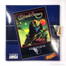 Videojuegos y Consolas: BLOOD MONEY - ERBE ESPAÑA / PSYGNOSIS 1989 DISCO 3½ RARO JUEGO DE ORDENADOR COMMODORE AMIGA DISKETTE. Lote 236119815