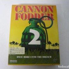 Videojuegos y Consolas: CANNON FODDER 2 / CAJA CARTÓN / COMMODORE AMIGA / RETRO VINTAGE / DISCO - DISKETTE - DISQUETE. Lote 242936065