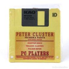 Videojuegos y Consolas: PETER CLUSTER RARO JUEGO ESPAÑOL KEFER JESUS MANUEL MONTANE PC PLAYERS 1992 COMMODORE AMIGA DISKETTE. Lote 243063850