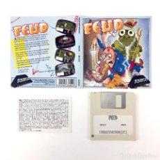 Videojuegos y Consolas: FEUD DRO SOFT ESPAÑA / MASTERTRONIC 1987 JUEGO RETRO INFORMATICA VINTAGE DISKETTE 3½ COMMODORE AMIGA. Lote 243065700