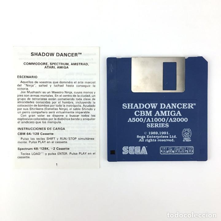 SHADOW DANCER - EDICION ESPAÑOLA SEGA U.S. GOLD 1991 JUEGO RETRO VINTAGE COMMODORE AMIGA DISKETTE 3½ (Juguetes - Videojuegos y Consolas - Amiga)