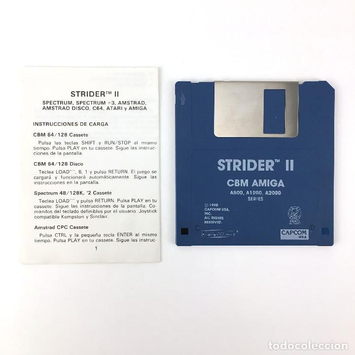 STRIDER II - EDICION ESPAÑOLA CAPCOM 1990 - JUEGO RETRO VINTAGE COMMODORE AMIGA 500 1000 DISKETTE 3½ (Juguetes - Videojuegos y Consolas - Amiga)