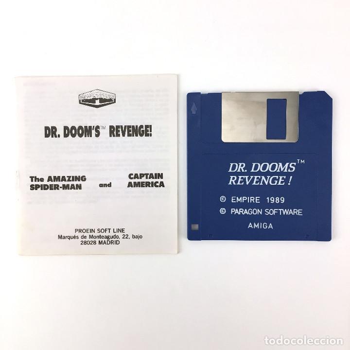 DR. DOOM'S REVENGE SPIDERMAN CAPITAN AMERICA PROEIN JUEGO RETRO COMMODORE AMIGA 500 1000 DISKETTE 3½ (Juguetes - Videojuegos y Consolas - Amiga)