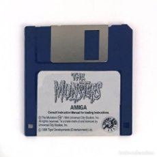 Videojuegos y Consolas: THE MUNSTERS. 1989 LA FAMILIA MONSTER TIGER DISK JUEGO CBM COMMODORE AMIGA 500 1000 2000 DISKETTE 3½. Lote 243103500