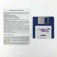 Videojuegos y Consolas: DEFENDERS OF THE EARTH SYSTEM 4 ENIGMA VARIATIONS DISK CBM COMMODORE AMIGA 500 1000 2000 DISKETTE 3½. Lote 243103530