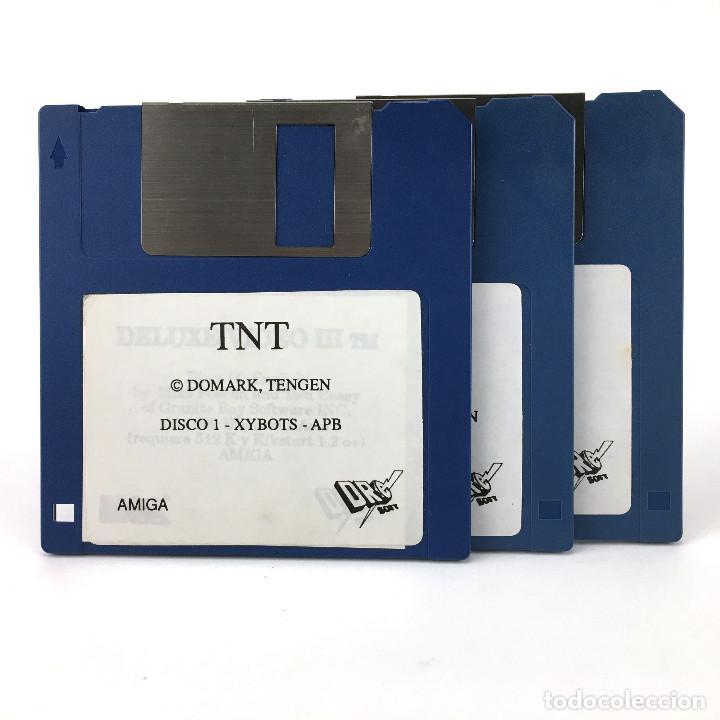 TNT : XYBOTS APB HARD DRIVIN TOOBIN DRAGON SPIRIT DRO SOFT COMMODORE AMIGA 500 1000 2000 DISKETTE 3½ (Juguetes - Videojuegos y Consolas - Amiga)