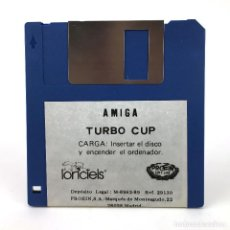 Videojuegos y Consolas: TURBO CUP. PROEIN / LORICIELS 1989 CBM RETRO F1 RACING CBM COMMODORE AMIGA 500 1000 2000 DISKETTE 3½. Lote 243103555