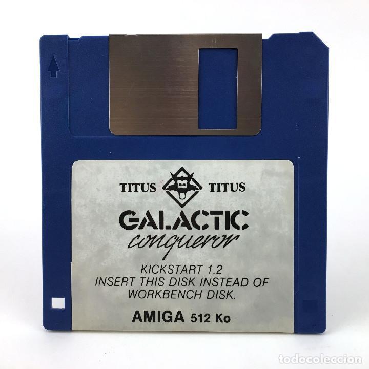 GALACTIC CONQUEROR. TITUS 1988 JUEGO RETRO INFORMATICA CBM COMMODORE AMIGA 500 1000 2000 DISKETTE 3½ (Juguetes - Videojuegos y Consolas - Amiga)
