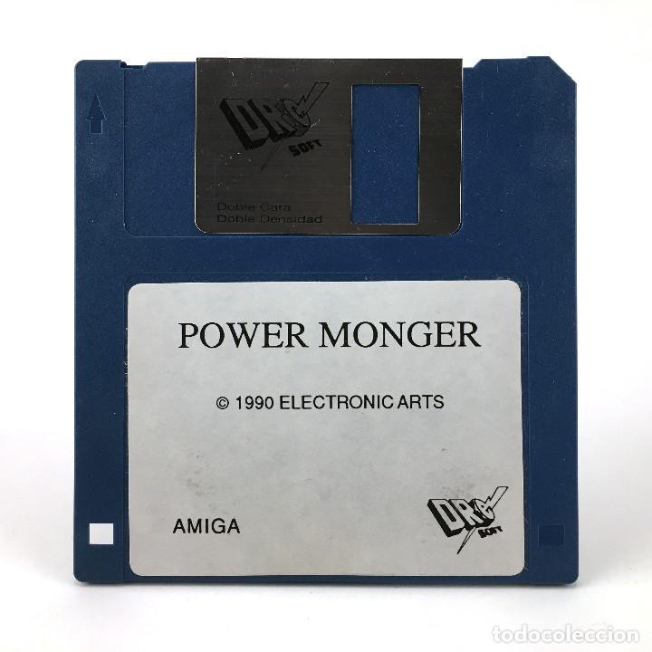 POWER MONGER DRO SOFT ELECTRONIC ARTS 1990 VIDEOJUEGO POWERMONGER POPULOUS COMMODORE AMIGA DISKETTE (Juguetes - Videojuegos y Consolas - Amiga)