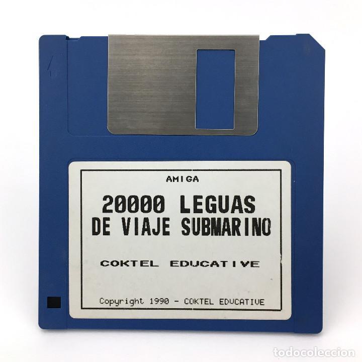 20000 LEGUAS DE VIAJE SUBMARINO COKTEL EDUCATIVE ANTIGUO VIDEOJUEGO VINTAGE COMMODORE AMIGA DISKETTE (Juguetes - Videojuegos y Consolas - Amiga)