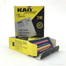 Videojuegos y Consolas: LOTE DE 23 DISKETTES 3½ JUEGOS GRABADOS GLL SOFT KAO IBM VIDEOJUEGO VINTAGE COMMODORE AMIGA DISK 3,5. Lote 249392750