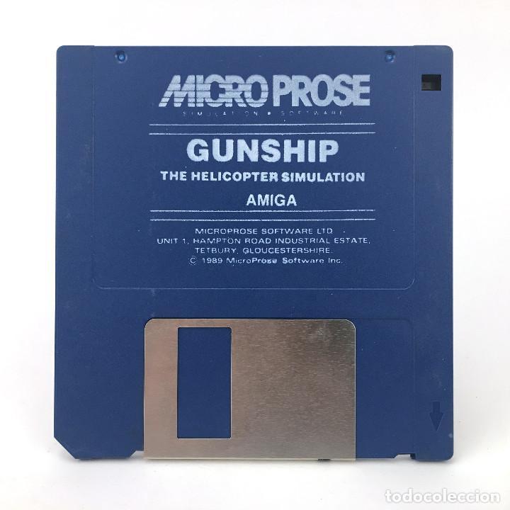 GUNSHIP THE HELICOPTER SIMULATION MICROPROSE 1989 DISK JUEGO ANTIGUO DISKETTE 3½ CBM COMMODORE AMIGA (Juguetes - Videojuegos y Consolas - Amiga)