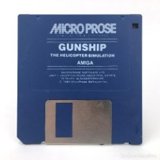 Videojuegos y Consolas: GUNSHIP THE HELICOPTER SIMULATION MICROPROSE 1989 DISK JUEGO ANTIGUO DISKETTE 3½ CBM COMMODORE AMIGA. Lote 253944005
