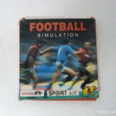 Videojuegos y Consolas: FOOTBALL SIMULATION / CAJA CARTÓN / COMMODORE AMIGA / RETRO VINTAGE / DISKETTE - DISQUETE. Lote 263129540