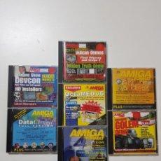 Videojuegos y Consolas: COLECCION DE DISCOS AMIGA FORMAT. VARIOS NUMEROS, VENTA DEL LOTE COMPLETO. Lote 263202215