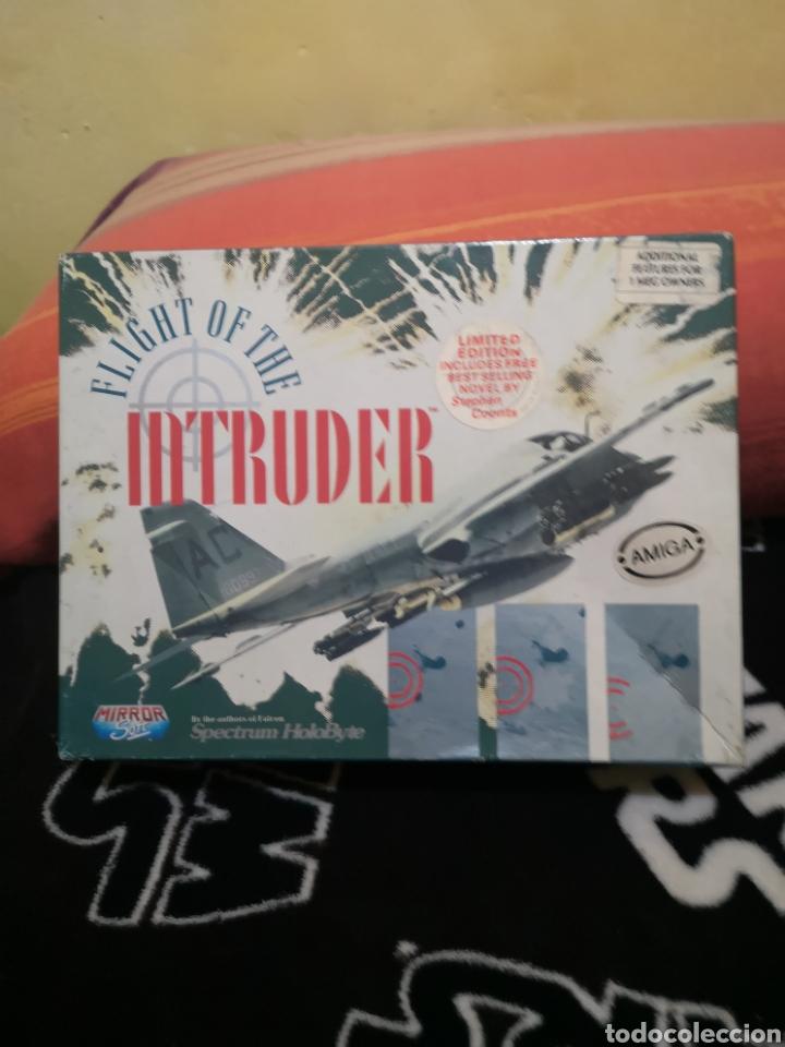 FLIGH OF THE INTRUDER COMMODORE AMIGA COMPLETO (Juguetes - Videojuegos y Consolas - Amiga)