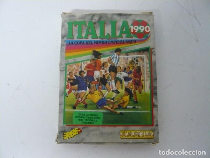 ITALIA 90 / CAJA CARTÓN / COMMODORE AMIGA / RETRO VINTAGE / DISCO - DISKETTE - DISQUETE (Juguetes - Videojuegos y Consolas - Amiga)