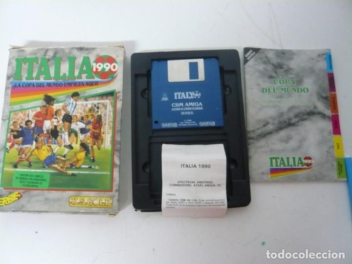 Videojuegos y Consolas: ITALIA 90 / CAJA CARTÓN / COMMODORE AMIGA / RETRO VINTAGE / DISCO - DISKETTE - DISQUETE - Foto 3 - 267636159
