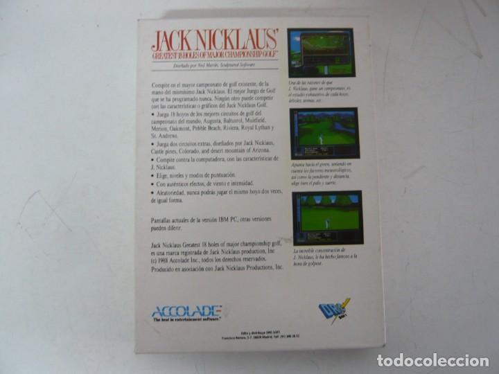 Videojuegos y Consolas: JACK NICKLAUS GOLF / CAJA CARTÓN / COMMODORE AMIGA / RETRO VINTAGE / DISCO - DISKETTE - DISQUETE - Foto 2 - 267636509