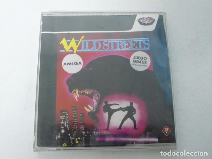 WILD STREETS / JEWELL CASE / COMMODORE AMIGA / RETRO VINTAGE / DISCO - DISKETTE - DISQUETE (Juguetes - Videojuegos y Consolas - Amiga)